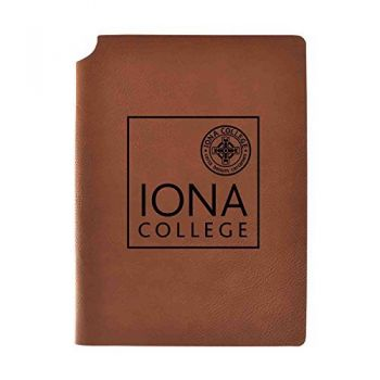 Iona College Velour Journal with Pen Holder|Carbon Etched|Officially Licensed Collegiate Journal|