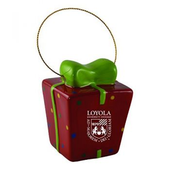 Loyola University Chicago-3D Ceramic Gift Box Ornament
