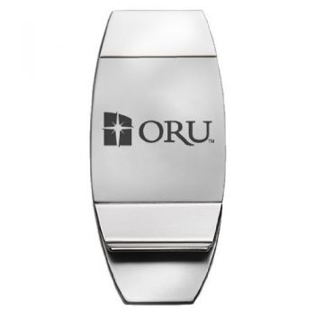 Oral Roberts University - Two-Toned Money Clip - Silver