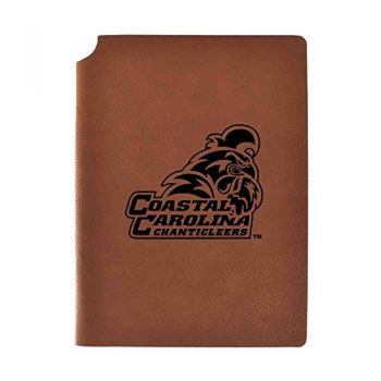 Coastal Carolina University Velour Journal with Pen Holder|Carbon Etched|Officially Licensed Collegiate Journal|
