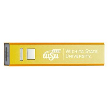 Wichita State University - Portable Cell Phone 2600 mAh Power Bank Charger - Gold