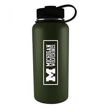University of Michigan -32 oz. Travel Tumbler-Gun Metal