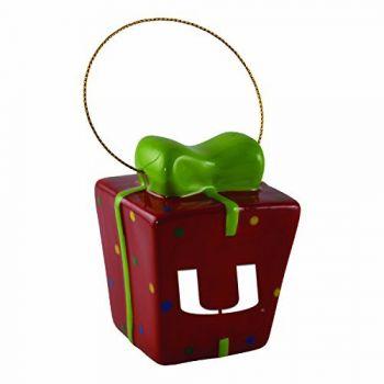 University of Miami-3D Ceramic Gift Box Ornament