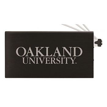8000 mAh Portable Cell Phone Charger-Oakland University -Black