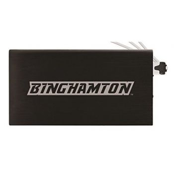 8000 mAh Portable Cell Phone Charger-Binghamton University-Black