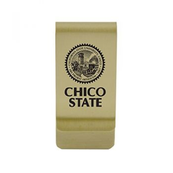 California State University, Bakersfield|Money Clip with Contemporary Metals Finish|Solid Brass|High Tension Clip to Securely Hold Cash, Cards and ID's|Silver