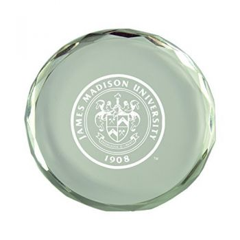 James Madison University-Crystal Paper Weight