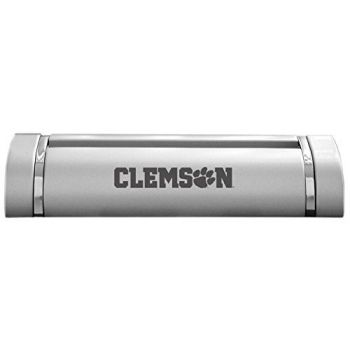 Clemson University-Desk Business Card Holder -Silver