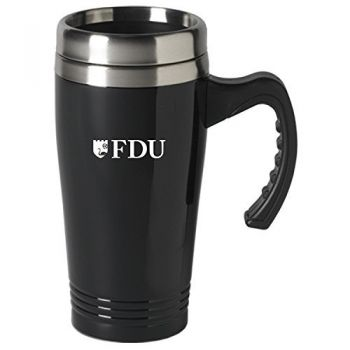 Fairleigh Dickinson University-16 oz. Stainless Steel Mug-Black