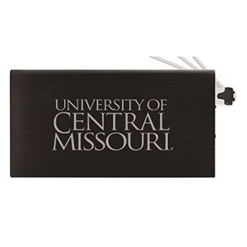 8000 mAh Portable Cell Phone Charger-University of Central Missouri -Black