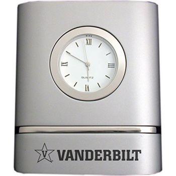 Vanderbilt University- Two-Toned Desk Clock -Silver
