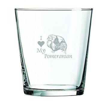 13 oz Cocktail Glass  - I Love My Pomeranian