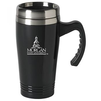Morgan State University-16 oz. Stainless Steel Mug-Black