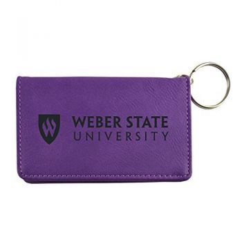 Velour ID Holder-Weber State University-Purple