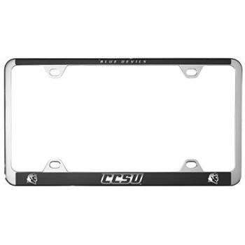 Central Connecticut University-Metal License Plate Frame-Black