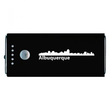 Quick Charge Portable Power Bank 5200 mAh - Albuquerque City Skyline