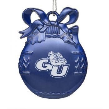 Gonzaga Bulldogs - Pewter Christmas Tree Ornament - Blue