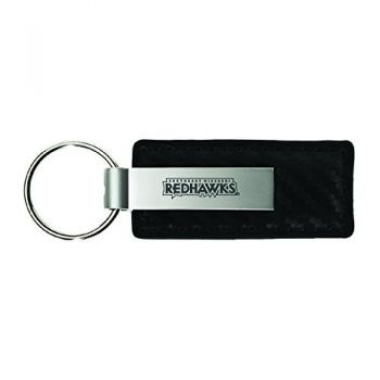 Southeast Missouri State University-Carbon Fiber Leather and Metal Key Tag-Black
