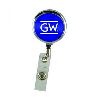 George Washington University-Retractable Badge Reel-Blue