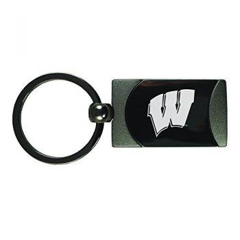 University of Wisconsin -Two-Toned Gun Metal Key Tag-Gunmetal
