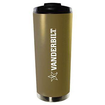 Vanderbilt University-16oz. Stainless Steel Vacuum Insulated Travel Mug Tumbler-Gold