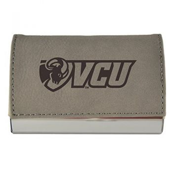 Velour Business Cardholder-Virginia Commonwealth University-Grey