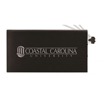 8000 mAh Portable Cell Phone Charger-Coastal Carolina University -Black