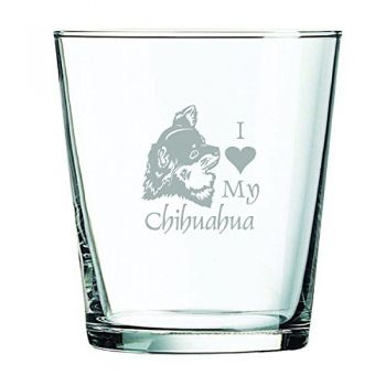 13 oz Cocktail Glass  - I Love My Chihuahua