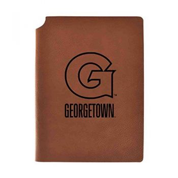 Georgetown University Velour Journal with Pen Holder|Carbon Etched|Officially Licensed Collegiate Journal|