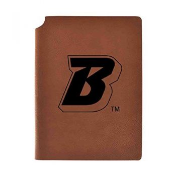 Binghamton University Velour Journal with Pen Holder|Carbon Etched|Officially Licensed Collegiate Journal|