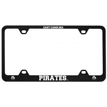 East Carolina University-Metal License Plate Frame-Black
