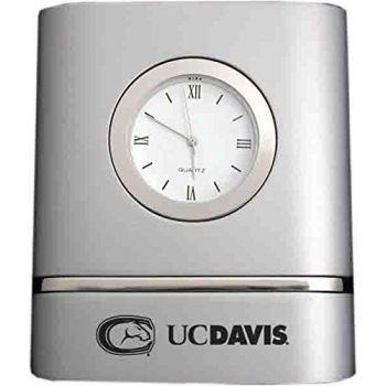 University of California, Davis- Two-Toned Desk Clock -Silver