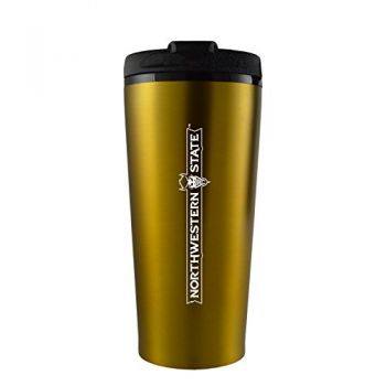 Northwestern State University -16 oz. Travel Mug Tumbler-Gold