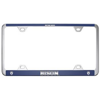 Howard University -Metal License Plate Frame-Blue