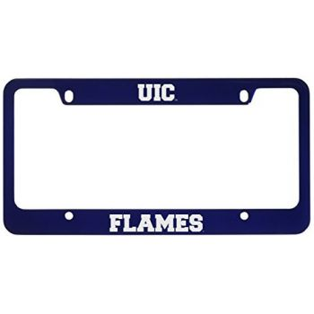 University of Illinois at Chicago-Metal License Plate Frame-Blue