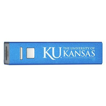 University of Kansas - Portable Cell Phone 2600 mAh Power Bank Charger - Blue