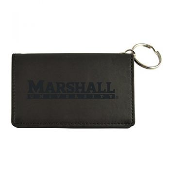 Velour ID Holder-Marshall University-Black