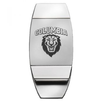 Columbia University - Two-Toned Money Clip - Silver