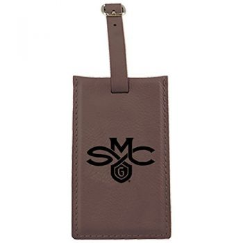 Saint Mary's College of California -Leatherette Luggage Tag-Brown