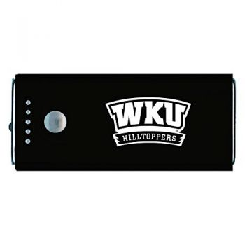 Western Kentucky University -Portable Cell Phone 5200 mAh Power Bank Charger -Black