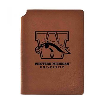 Western Michigan University Velour Journal with Pen Holder|Carbon Etched|Officially Licensed Collegiate Journal|