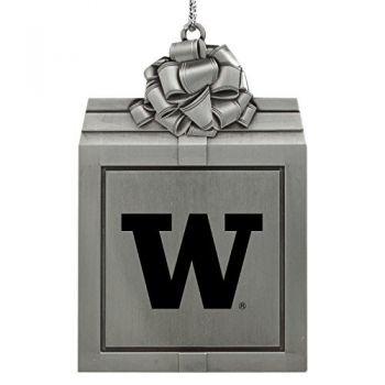 University of Washington-Pewter Christmas Holiday Present Ornament-Silver