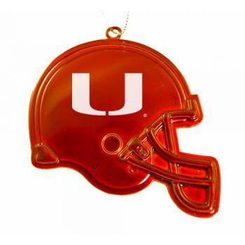 University of Miami - Christmas Holiday Football Helmet Ornament - Orange