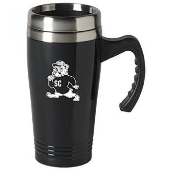 South Carolina State University-16 oz. Stainless Steel Mug-Black
