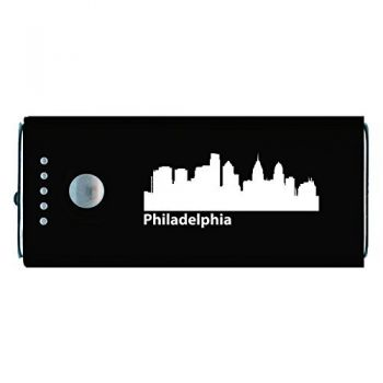 Quick Charge Portable Power Bank 5200 mAh - Philadelphia City Skyline
