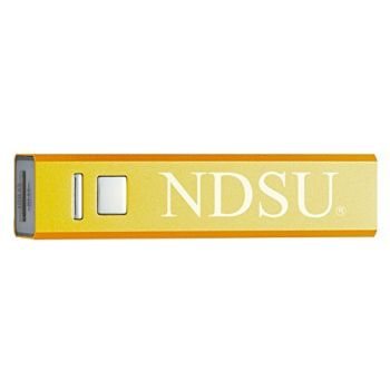 North Dakota State University - Portable Cell Phone 2600 mAh Power Bank Charger - Gold