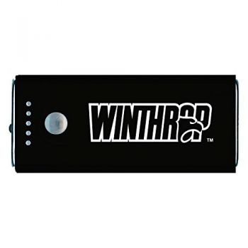 Winthrop University -Portable Cell Phone 5200 mAh Power Bank Charger -Black