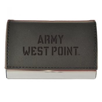 Velour Business Cardholder-United States Military Academy-Black