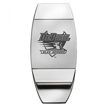 DePaul University - Two-Toned Money Clip - Silver