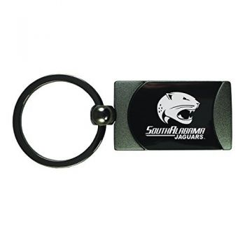 University of South Alabama -Two-Toned Gun Metal Key Tag-Gunmetal